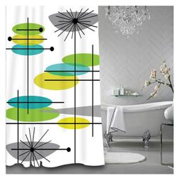 CHARMHOME Mid Century Modern 44 Shower Curtain Polyester Fab