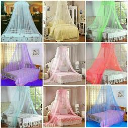 Mosquito Lace Bed Netting Mesh Canopy Princess Round Elegant