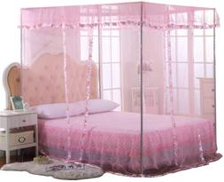 Jqwupup Mosquito Net For Bed - 4 Corner Canopy For Beds, Can