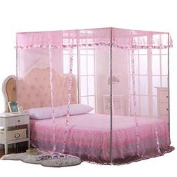 JQWUPUP Mosquito Net for Bed 4 Corner Canopy for Beds Canopy