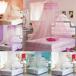 Mosquito Net Princess Lace Dome Bed Canopy for Kids Girls Fl