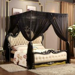 Nattey 4 Corners Post Bed Canopy Curtain Bed Frame Canopies,