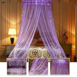 New Elegant Lace Bed Mosquito Netting Mesh Canopy Princess R