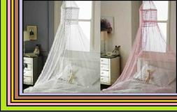 New Popsicle Design Bed Canopies - White & Pink Canopy. Bedr