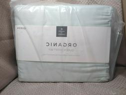 organic queen sheet set mint