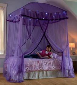 over bed canopy for girls with lights
