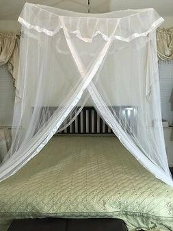 Octorose ® Poles Cross Top Bed Canopy Functional Mosquito I