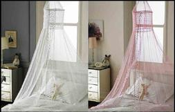 Popsicle Design Bed Canopies - White & Pink Canopy. Bedroom