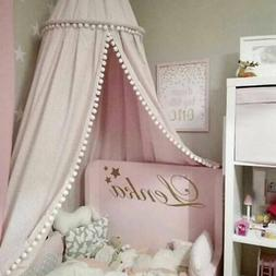 Princess Crown Bed Canopy Bedcover Kids Girls Insect Mosquit