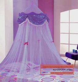 PURPLE PERFECT PRINCESS BED CANOPY MOSQUITO NET NEW FAST SHI