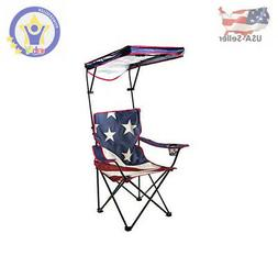 Quik Shade Adjustable Canopy Folding Shade Chair, American F