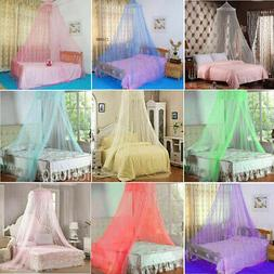 Solid Mosquito Net Bed Queen Size Home Dome Foldable Bed Can