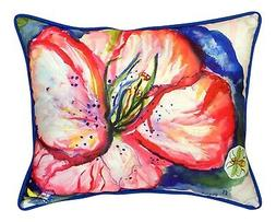 Tropical Red Hibiscus 16X20 Inch Large Indoor Outdoor Pillow