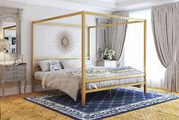 Twin Full Queen king Size Canopy Bed Frame Headboard Metal S